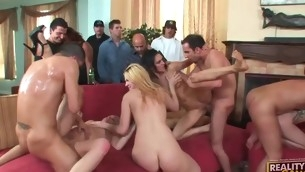 Sluts are performing blows in advance of getting pounded so abiding
