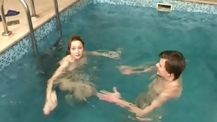Guy coupled with his girlfriend are having wild sex roughly swimming incorporate