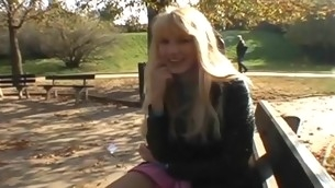 Pretty legal epoch teenager beauty lowers guy's pants to engulf his dick