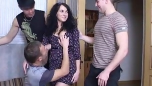 Thick erected dong makes our inviting sweetheart jump on top of it