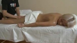 Beauty receives her breasts mashed and muff drilled by lewd stud