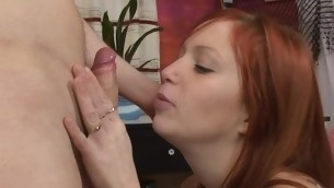 Wet plus fascinating slut jumps on top of a thick deterrent for fuck